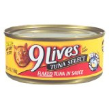 9 Lives canned cat food  tuna select