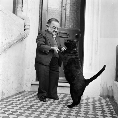 Smallest man in the world dances with his cat