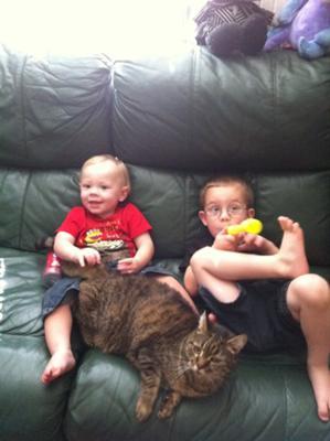 Talvi with my boys.