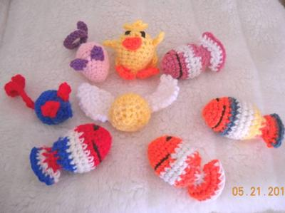 Crocheted Cat Toy Collection