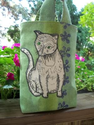 Painted Cat Tote Bag