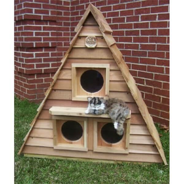 Catsplay cat cottage triplex