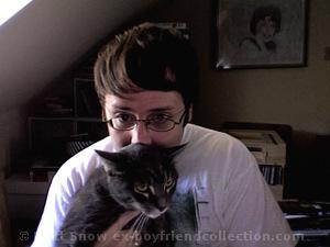 Ex-Boyfriend founder Matt Snow with cat Oliver