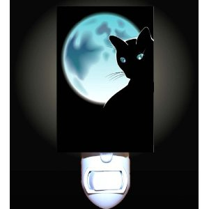 moon cat decorative nightlight