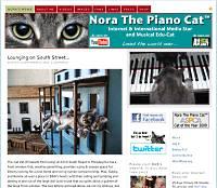 Nora the Piano Cat blog screen shot