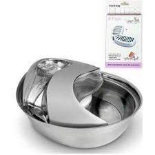 Pioneer Pet 6023 Stainless Steel Drinking Fountain, Raindrop Design