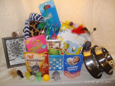 talk to the paw cat gift baskets
