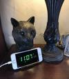 Bronze Cat phone charging dock
