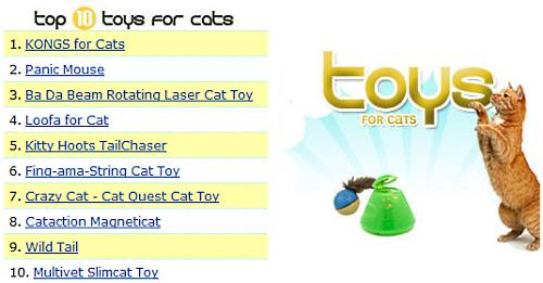 Top 10 cat toys from Entirely Pets