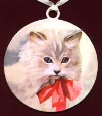 vintage cat ornament