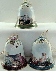 Cat bell ornaments