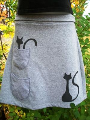 Painted Cat Skirt