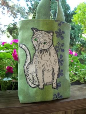 Painted Cat Tote Bag
