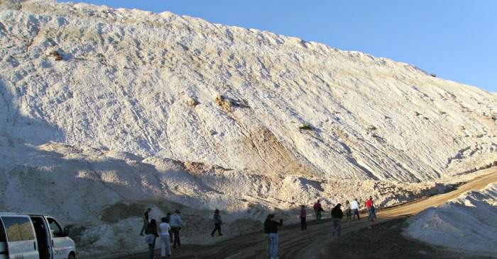 Diatomite mine in Northern California