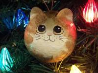 Donna D. Tate hand painted cat ornament