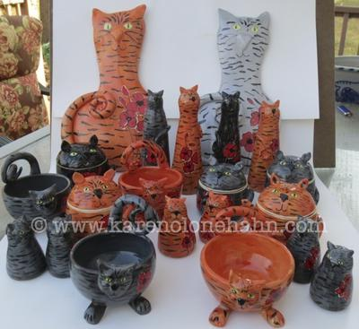 My newest handmade ceramic cat collection