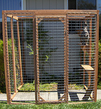 Outdoor cat enclosure from CD Pets