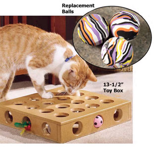 Peek a Prize cat toy box