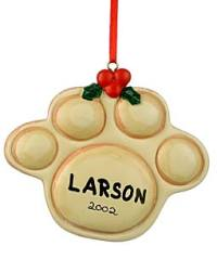 Pet paw ornament
