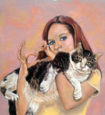 This could be your portrait with your cat!