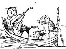 The owl and the pussycat in their boat