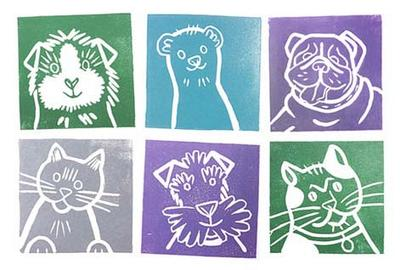 Some example pet illustrated prints